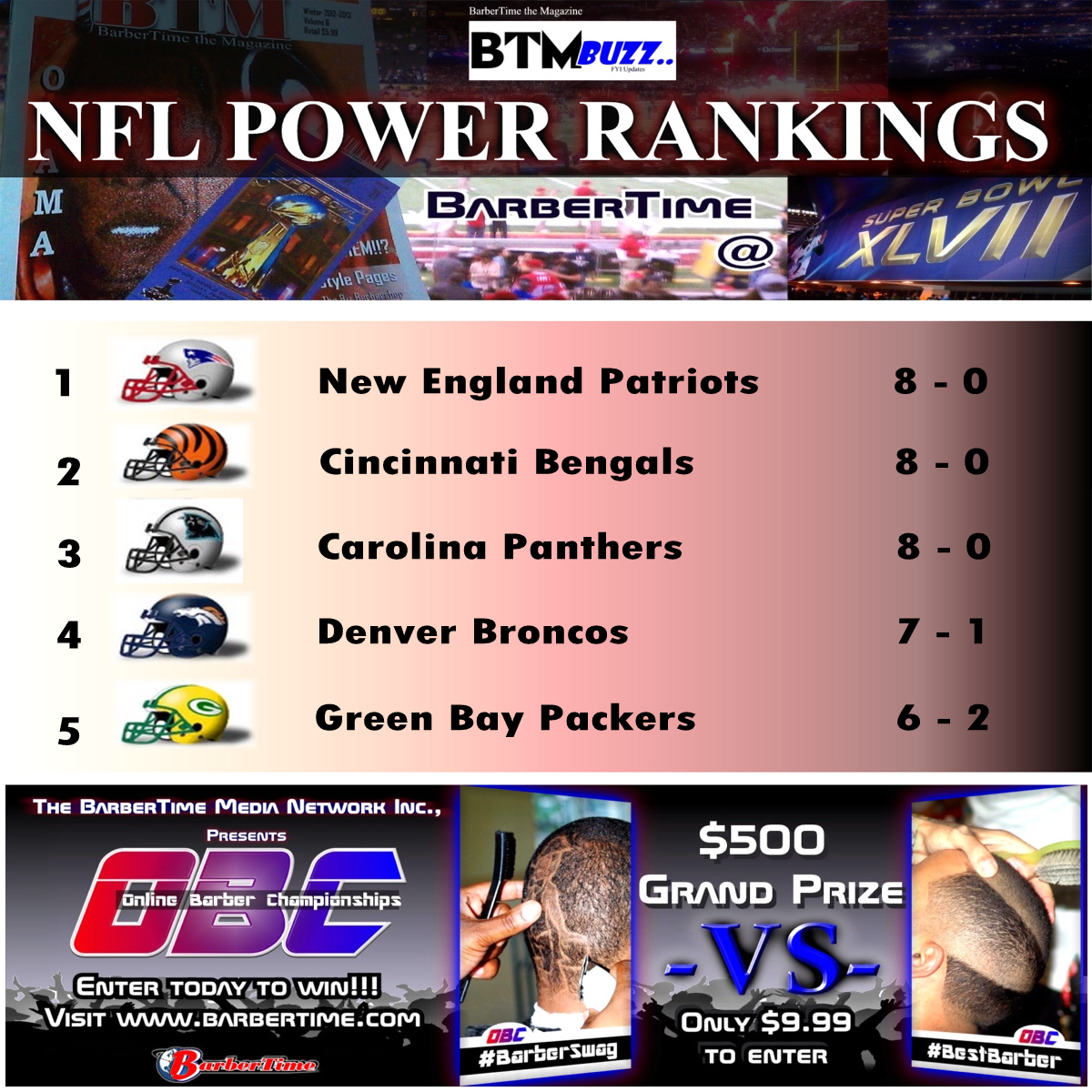 WK 9 power rankings SQUARE